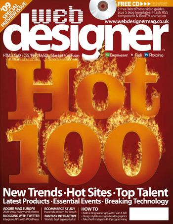 Web Designer Issue 153 - Web Designer 'Hot 100' revealed